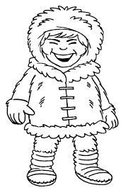 eskimo coloring page free download