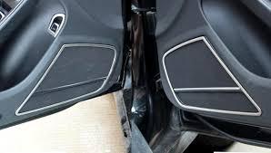 audi car speakers stainless interior car door speaker cover trim 4pcs for audi