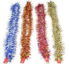 christmas tinsel 2m vintage tinsel garland christmas tree home wall