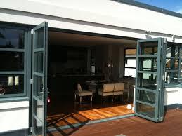 Folding Exterior Doors Modern House Design With Grey Exterior Bi Folding Doors