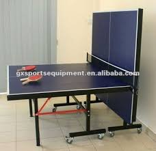 collapsible table tennis table indoor single folding table tennis table with wheels buy table