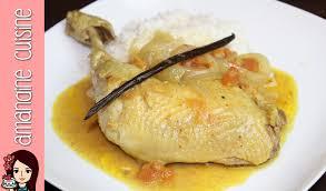 amandine cuisine recette du poulet vanillé au lait de coco