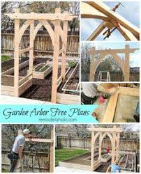 Backyard Arbor Ideas Over 70 Arbor Plans Free At Planspin Com