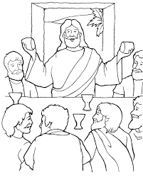 Last Supper Coloring Page The Last Supper Coloring Page