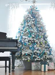 tree blue lights lights card and decore