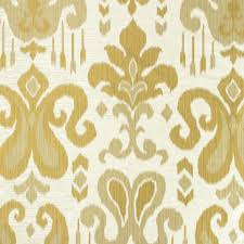 Ikat Home Decor Fabric by Gold Damask Fabric Upholstery Fabric Medallion Curtain Fabric