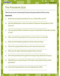 the presidents quiz social studies trivia for jumpstart