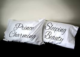 his and hers pillow cases sleeping beauty prince charming his and pillowcase set