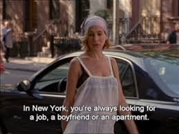 Sex And The City Memes - sex in the city quote about apartment boyfriend job new york