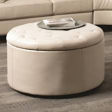 the pretty cream ivory linen tufted ottoman coffee table