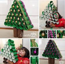 how to make christmas how to make a paper roll christmas tree pictures photos and images