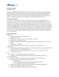 Executive Summary Sample For Resume by Sample Resume For Executive Assistant Free Resume Example And