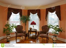 living room with bay window royalty free stock photos image 2177588