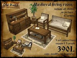 Old World Living Room Furniture by Second Life Marketplace Medieval Living Room 1 Old World