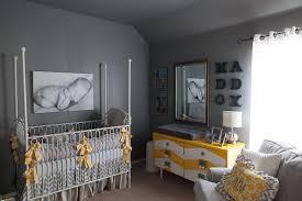 Gray And Yellow Nursery Decor Vintage Railroad Chevron Nursery Design Dazzle
