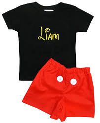personalized mickey mouse suit shorts set
