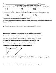 complementary and supplementary angles practice by teaching from a z