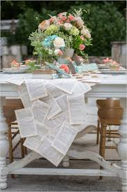 make your own table runner diy vintage book page table runner for your wedding weddingomania