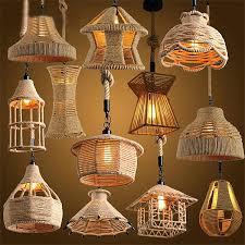 Wood Veneer Pendant Light Diy Wood Veneer Pendant Light Jar Retro Loft Vintage Hemp