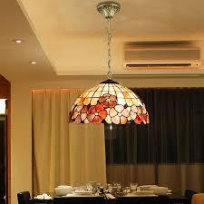 Seashell Light Fixture Mediterranean Baroque Pastoral Shell Pendant Light