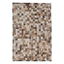 Cowhide Leather Rug Cowhide Patch Light Brown Cream Leather Rug Ecarpet Gallery