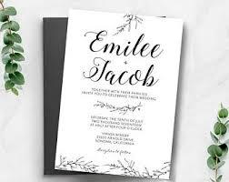 wedding invite wedding invitations etsy ca