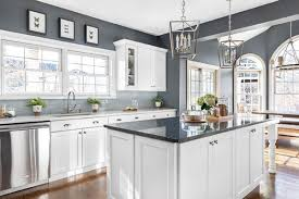 grey kitchen cabinets with white countertop white kitchen cabinets and countertops a style guide