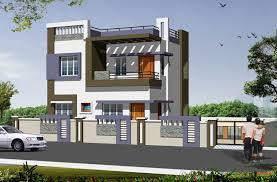 3d Duplex House Front Elevation