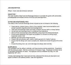 food and beverage supervisor job description top 10 food and