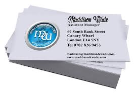 Laid Business Cards Graphic Design
