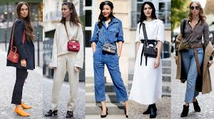 small crossbody bags were a style favorite on day 1 of