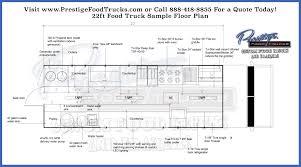 Floor Plan Generator Custom Food Truck Floor Plan Samples Prestige Custom Food Truck