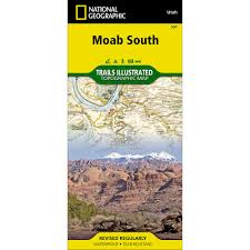 Map Of Moab Utah by 501 Moab South Trail Map National Geographic Store