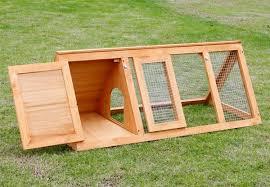 wooden rabbit hutch with run u2022 grabone nz