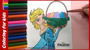 easter coloring pages disney princess frozen elsa from coloring