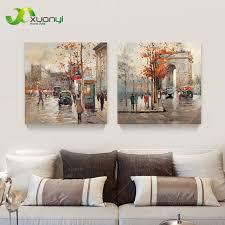 wohnzimmer leinwand shop 2 stücke leinwand kunst moderne malerei straße
