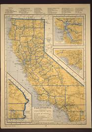 California Maps California Map California Original Railroad Map 1930s 1936 Maps