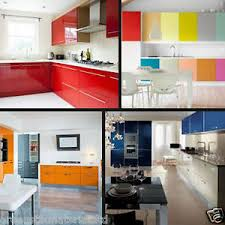 kitchen cupboard doors and drawers details about 610 x 5 m 24 gloss self adhesive kitchen cupboard door drawer wardrobe cover