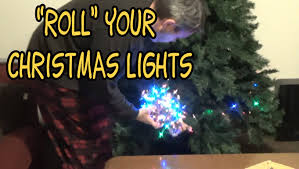 why you should roll lights into a before storing
