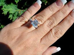emerald engagement rings images Celebrity inspired diamond rings emerald diamond ring 3 23 e jpg