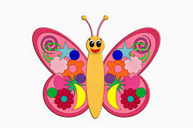 ch childrens colouring butterfly