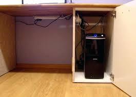 Locking Computer Desk Computer Desk With Cpu Cabinet Desk Computer Desk With Cabinet