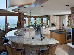 appliances open space kitchen design providing hills view with