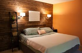 Wall Reading Lamp Bedroom White Glass Shade Wall Bedroom Lamp On Rustic Stone Panel