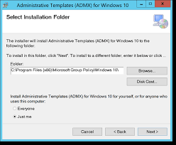 download windows 10 admx templates and group policy excel sheet