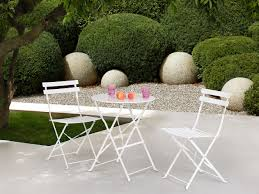 balcony set bistro set table and two chairs white walter