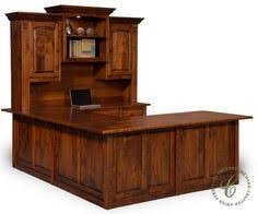 Furniture Of America Computer Desk Canyon Brown Bestar Pro Linea 29 9 In U Shaped Desk With Metal Legs 120861