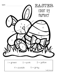 easter coloring pages numbers color by number preschool coloring pages