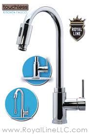 sensor faucet kitchen kitchen touchless faucet royal line