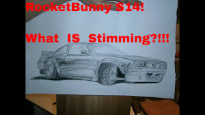 nissan silvia drawing what is stimming nissan silvia s14 rocektbunny time lapse drawing